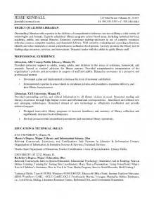 Library Specialist Sle Resume by Librarian Resume