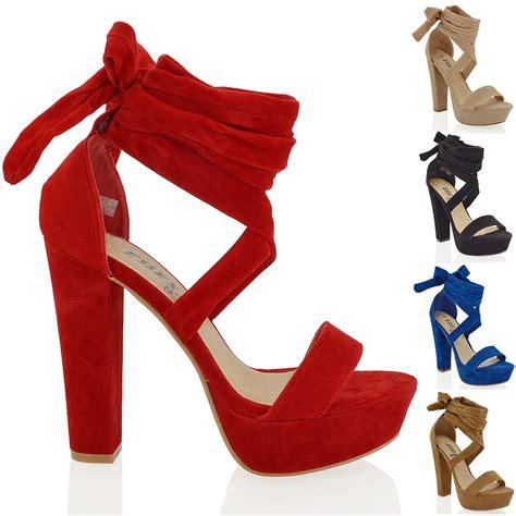 block heel high heels womens platform block high heel tie lace up ankle