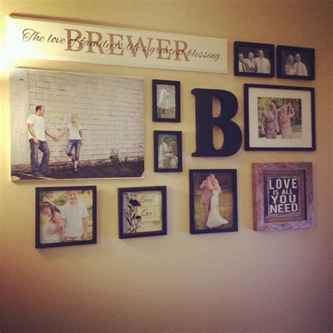 wall collages with photos the brewer s collage walls and wall decor
