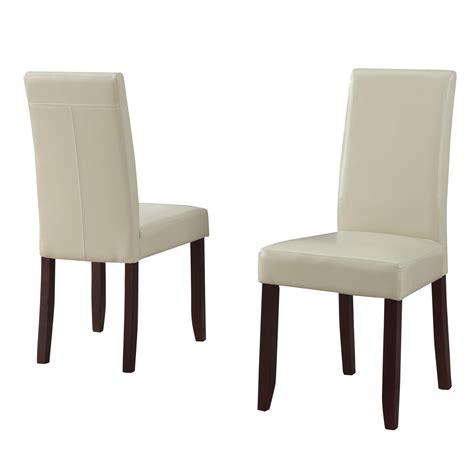 amazoncom simpli home acadian parson dining chair satin cream set   chairs