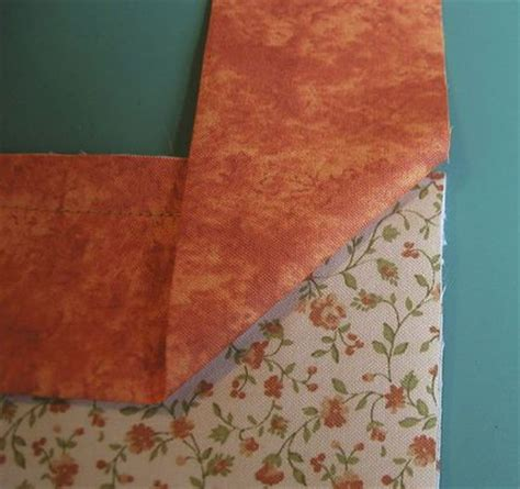 Mitre Corners On Quilt Binding by How To Make And Mitered Corners On