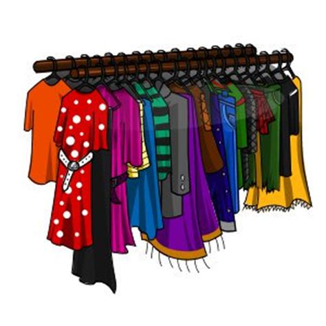 Clothing Rack Clipart by Marapets Clothing Rack