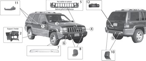 Parts For A Jeep Grand Jeep Grand Zj Exterior Parts 93 98