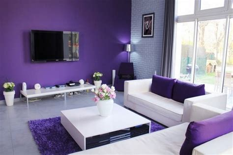 purple paint colors living room purple and white living room home design
