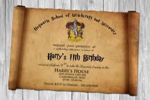 harry potter papyrus style birthday invitation psd template drevio invitations design