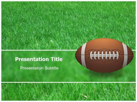 Football Powerpoint Backgrounds Skywrite Me Football Field Powerpoint Template