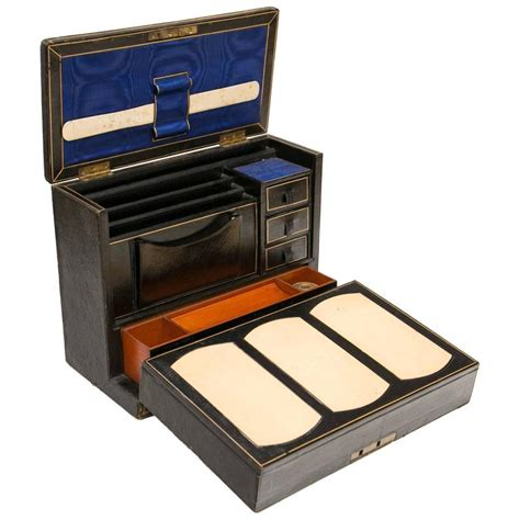 Desk Accessories Sets Period Leather Travelling Writing At 1stdibs