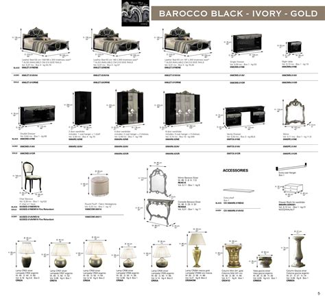 bedroom furniture pieces names barocco black w gold camelgroup italy classic bedrooms
