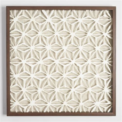 rice paper wall l rice paper star shadowbox wall art world market