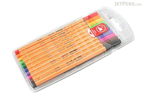 Stabilo Set 9 Warna stabilo point 88 fineliner marker pen 0 4 mm 10 color set wallet jetpens