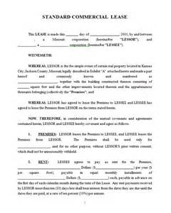 commercial lease contract template commercial lease contract template sle commercial