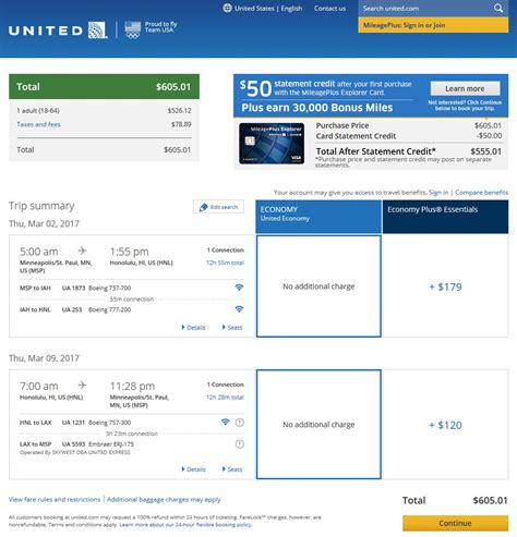 united airlines booking 599 606 st louis minneapolis to honolulu in 2017