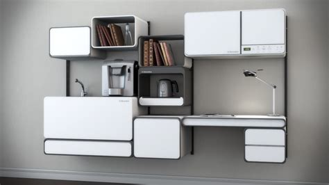 What Is Modular Kitchen Concept by A Modular Kitchen With Office Space