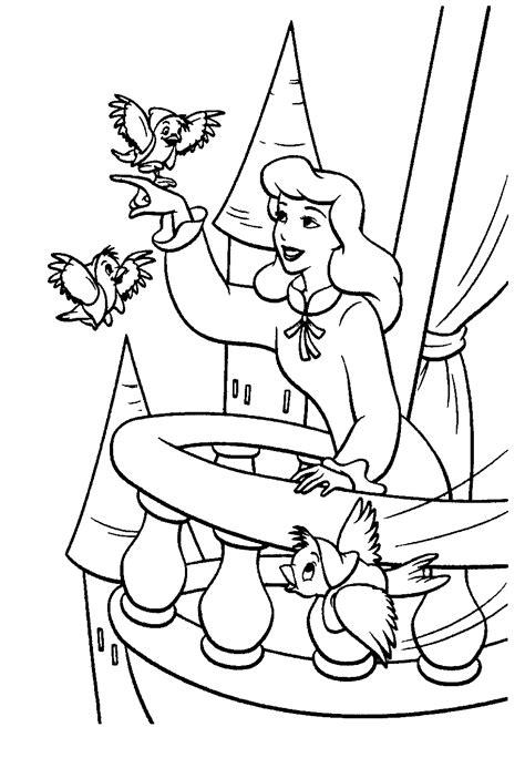 coloring pages cinderella print free printable cinderella coloring pages for kids