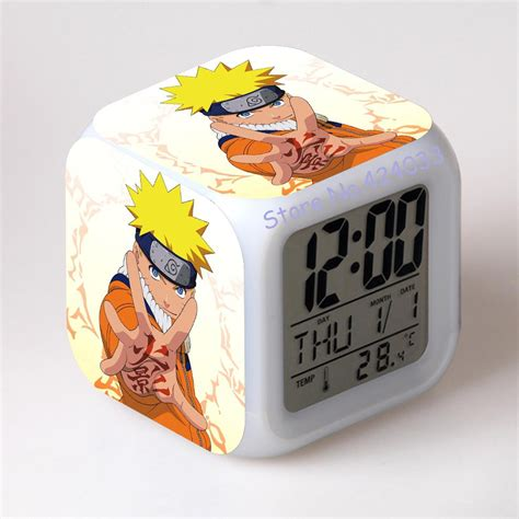 toys led touch multi function alarm clock seven color in alarm clocks