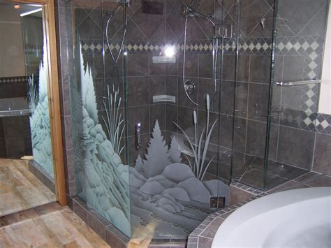 Shower Doors With Design On Glass 15 Decorative Glass Shower Doors Designs For A Bathroom