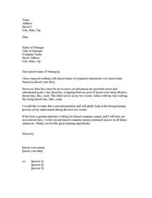2 weeks notice resignation letter exle two week resignation letter sles resignation letter2