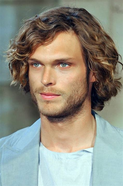 middle age medium length men s hair mid length curly hairstyle for men love the beachy waves