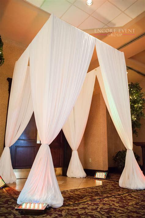white draping main door entrance draping crystal gardens southgate