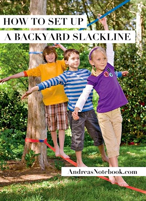 backyard slackline why you need a backyard slackline for your kids