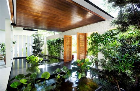interior garden 10 homes with indoors ponds garden homelove homelove