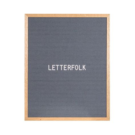 Letter Gray The Writer Grey 16 Quot X 20 Quot Letter Board Letterfolk