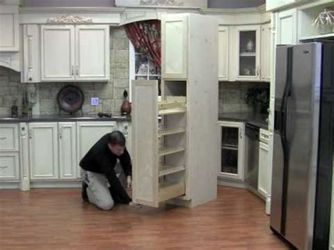 Kraftmaid Pantry Pull Out by Installing The Pullout Wood Pantry