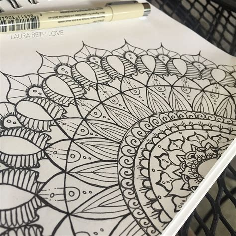 draw doodle for dishfunctional designs drawing a mandala be authentic