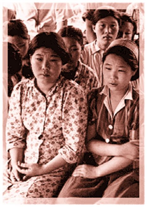 comfort women history web page template
