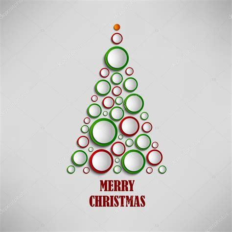 arbol navidad plantilla tarjeta de navidad con 225 rbol de plantilla de c 237 rculos de