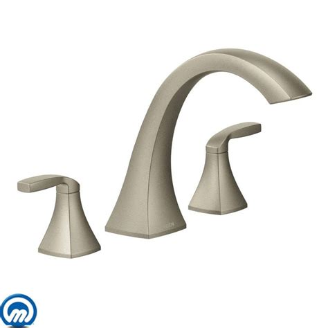 Adding Shower To Bathtub Faucet Com T693bn In Brushed Nickel By Moen