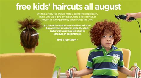 free haircuts in dc jcpenney s free kids haircuts in august