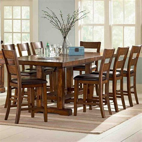 high dining table with bench high top dining table with 8 chairs home furniture design