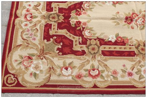 needlepoint rug shabby chic 3x5 needlepoint rug aubusson decor carpet burgundy pink ivory ebay