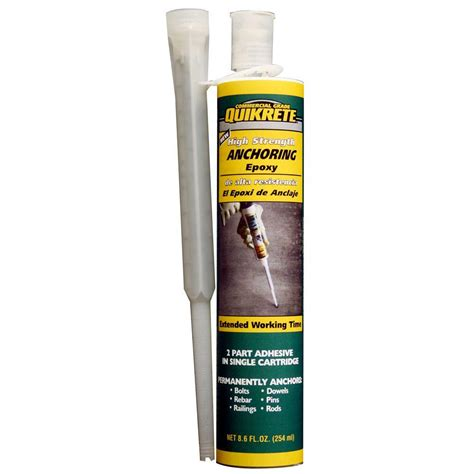 quikrete 8 6 oz high strength anchoring epoxy 862031