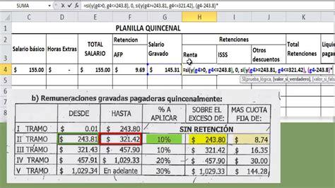 calculo de sueldo quincenal calculo de planillas en excel en base a ley actualizada
