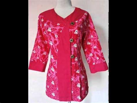 Baju Batik Blouse Amara 05 dress batik model baju kerja modern amara 02