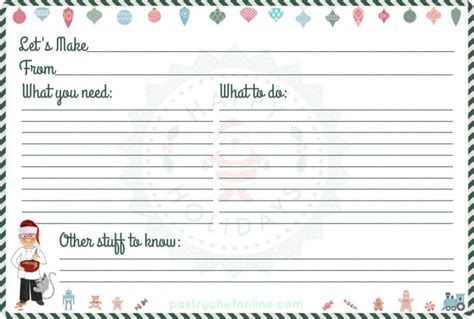 printable recipe cards online free printable christmas recipe cards from pco