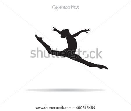 Gymnastics Wall Murals gymnastics young gymnast woman silhouette gymnast stock