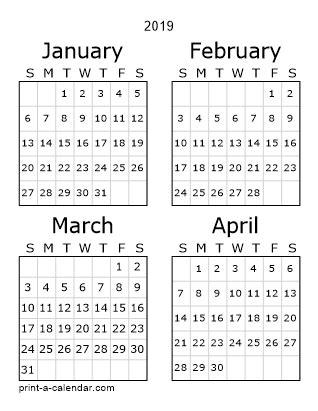 free download printable calendar 2018 month in a column half a
