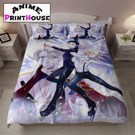 anime bed yuri on ice bed sheets blanket covers full bed set