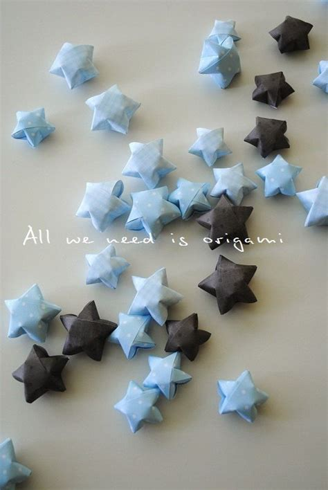 Boy Origami - sweet combinations baby boy decoration 50 origami