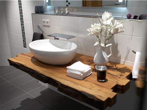 Regal Unter Waschbecken by Waschtisch Holzbalken Interessante Ideen Haus Garten