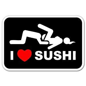 I Love Sushi Aufkleber by I Love Sushi Adult Funny Car Bumper Sticker Window Decal 5