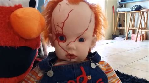 chucky reborn baby doll childs play halloween prop scarey