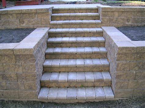 Landscape Block Stairs by Stairs And Steps Premier Patio And Landscape Llc