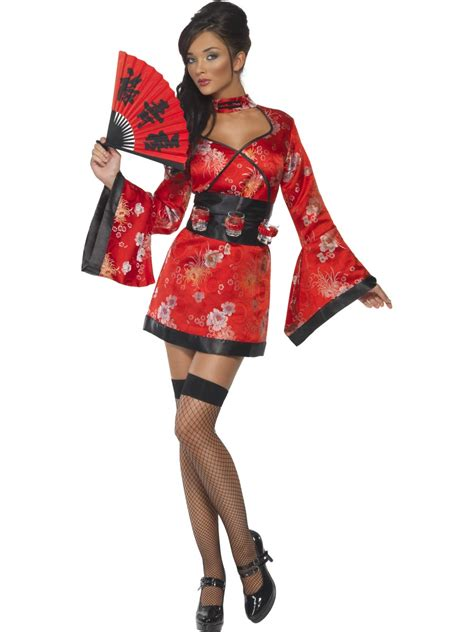 Geisha Dres 2 geisha costume japan kimmono fancy dress 8 14 ebay