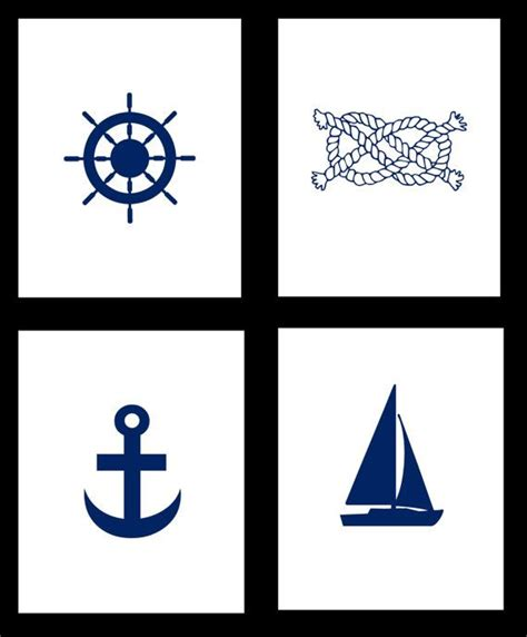 printable nautical images nautical print set set of 4 nautical art prints 8x10