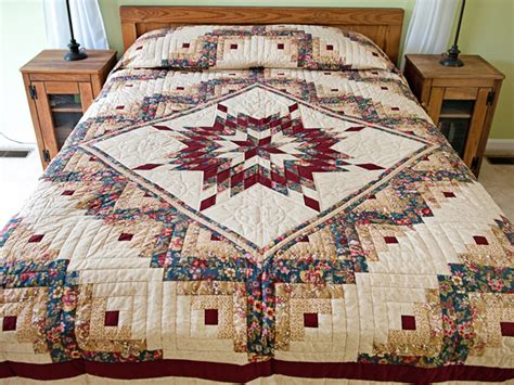 Lone Log Cabin Quilt Pattern by Lone Log Cabin Quilt Marvelous Cleverly Made Amish