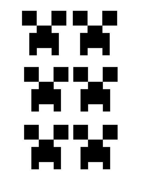 creeper face template printable compleanno minecraft
